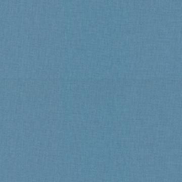 Baumwoll-Druck Uni blau