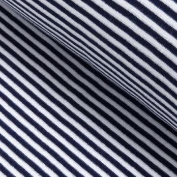 Ringel-Bündchen marine-weiß