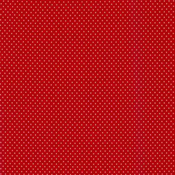 Baumwoll-Jersey Punkte 3mm rot