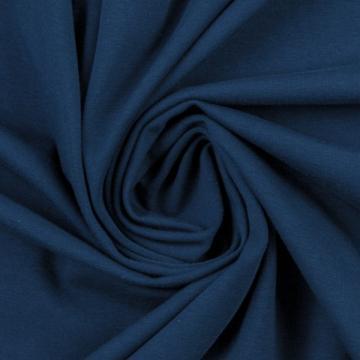 Baumwoll-Jersey jeansblau