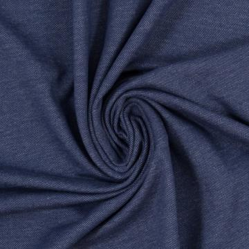 Baumwoll-Jersey meliert dunkelblau