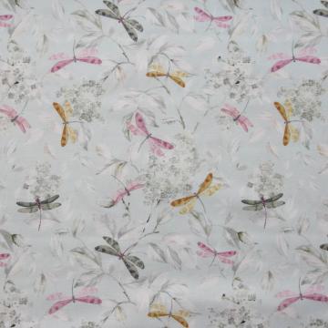 Baumwoll-Popeline mint-bunt