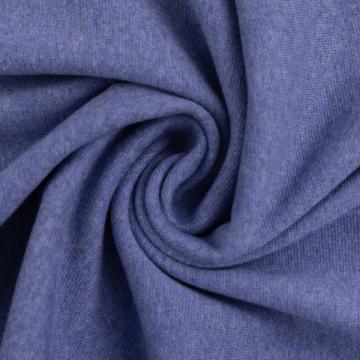 Bündchen Melange blau