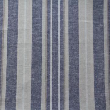 Leinen-Viscose Mischung mit Streifen