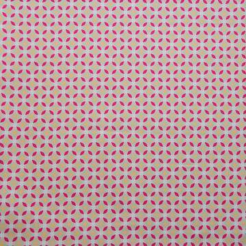 Baumwoll-Stretch Grafik beige-pink