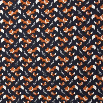 Baumwoll-Jersey Füchse