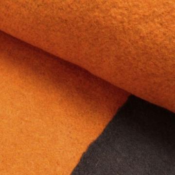 Walkloden Doubleface orange-braun