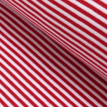 Ringel-Bündchen rot-weiß