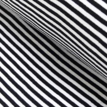 Ringel-Bündchen schwarz-weiß