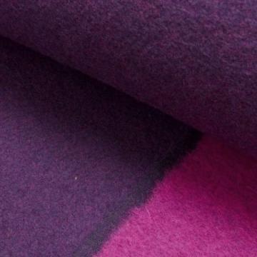 Walkloden Doubleface violett-pink